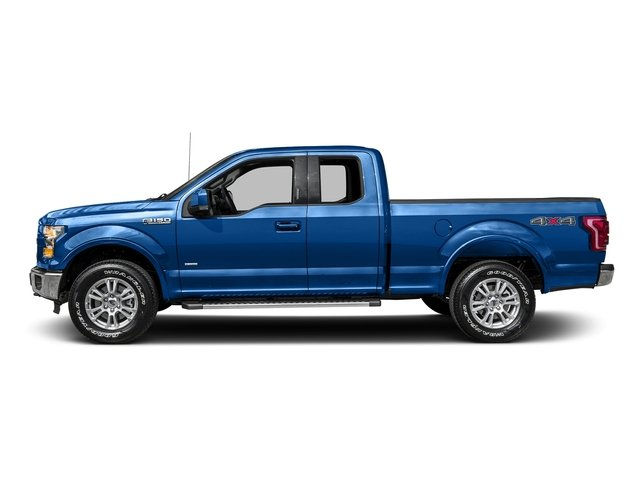 Blue Flame Metallic 2016 Ford F-150 Pictures F-150 Supercab Lariat 2WD photos side view