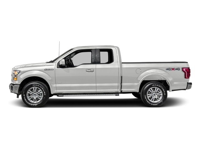Oxford White 2016 Ford F-150 Pictures F-150 Supercab Lariat 2WD photos side view