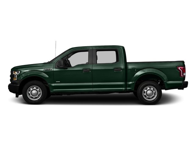Green Gem Metallic 2016 Ford F-150 Pictures F-150 Crew Cab XL 2WD photos side view