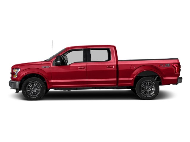 Race Red 2016 Ford F-150 Pictures F-150 Crew Cab Lariat 4WD photos side view