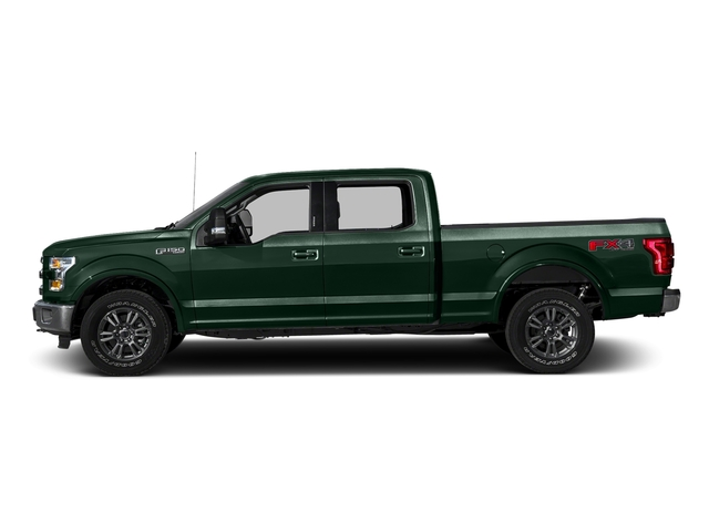 Green Gem Metallic 2016 Ford F-150 Pictures F-150 Crew Cab Lariat 4WD photos side view