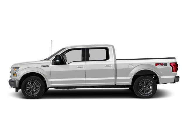 Oxford White 2016 Ford F-150 Pictures F-150 Crew Cab Lariat 4WD photos side view