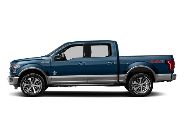 Blue Jeans Metallic 2016 Ford F-150 Pictures F-150 Crew Cab King Ranch 4WD photos side view
