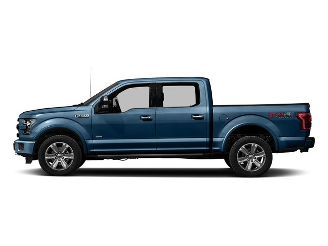 Blue Jeans Metallic 2016 Ford F-150 Pictures F-150 Crew Cab Platinum 2WD photos side view