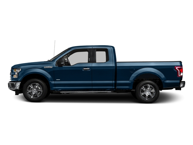 Blue Jeans Metallic 2016 Ford F-150 Pictures F-150 Supercab XLT 2WD photos side view