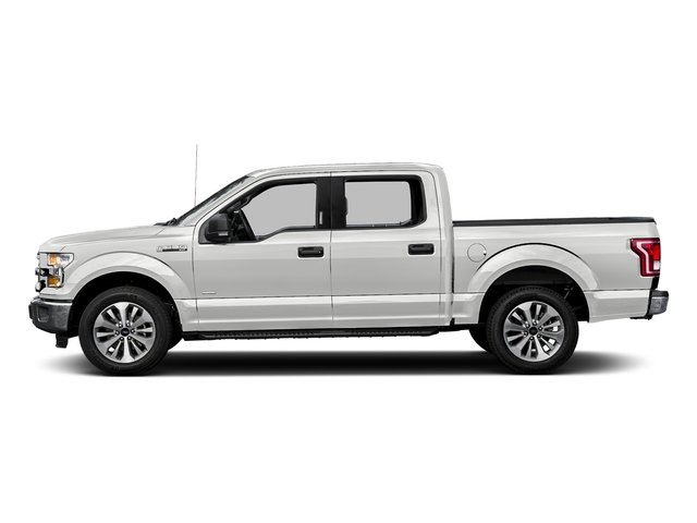 Oxford White 2016 Ford F-150 Pictures F-150 Crew Cab XLT 2WD photos side view