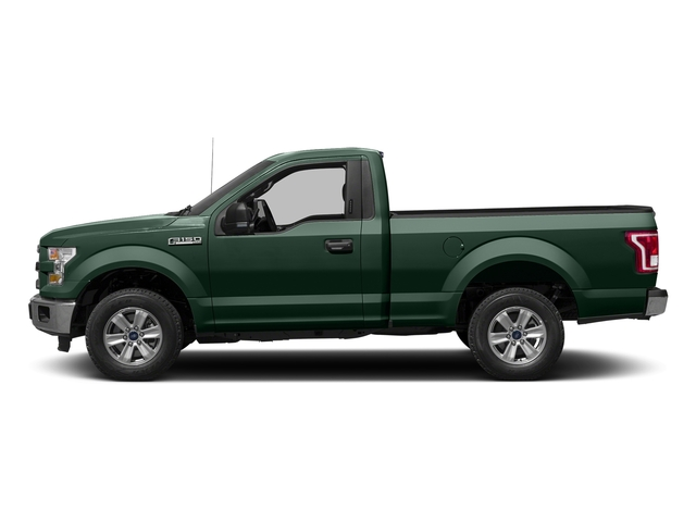 Green Gem Metallic 2016 Ford F-150 Pictures F-150 Regular Cab XLT 2WD photos side view