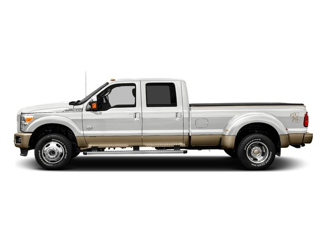 Oxford White 2016 Ford Super Duty F-450 DRW Pictures Super Duty F-450 DRW Crew Cab King Ranch 4WD T-Diesel photos side view