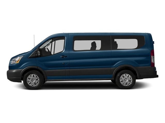 Blue Jeans Metallic 2016 Ford Transit Wagon Pictures Transit Wagon Passenger Van XLT Low Roof photos side view