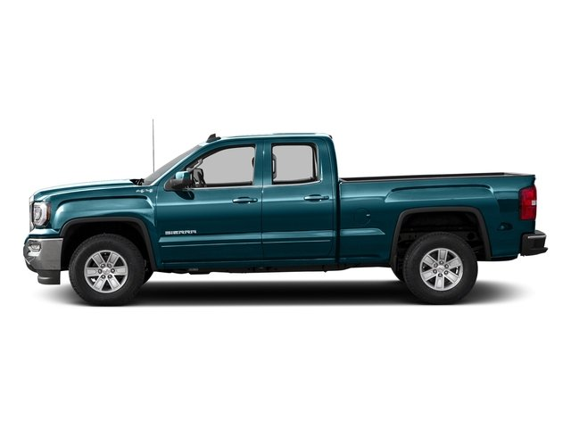 Stone Blue Metallic 2016 GMC Sierra 1500 Pictures Sierra 1500 Extended Cab SLE 4WD photos side view