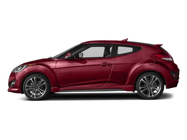 Boston Red 2016 Hyundai Veloster Pictures Veloster Coupe 3D I4 Turbo photos side view