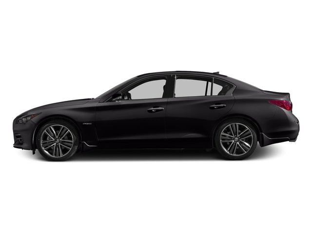 Malbec Black 2016 INFINITI Q50 Pictures Q50 Sedan 4D AWD V6 Hybrid photos side view