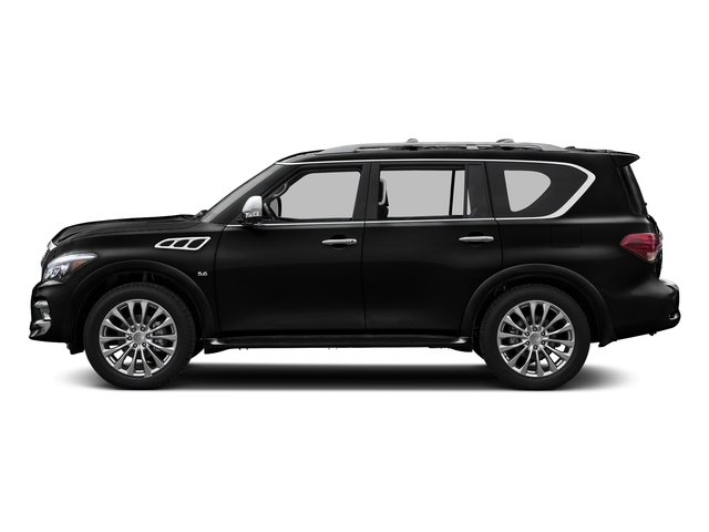 Black Obsidian 2016 INFINITI QX80 Pictures QX80 Utility 4D Signature AWD V8 photos side view