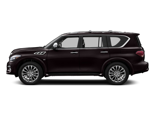 Dark Currant 2016 INFINITI QX80 Pictures QX80 Utility 4D Signature AWD V8 photos side view