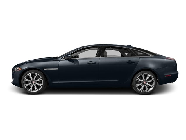 Dark Sapphire Metallic 2016 Jaguar XJ Pictures XJ Sedan 4D L Portfolio AWD V6 Sprchrd photos side view