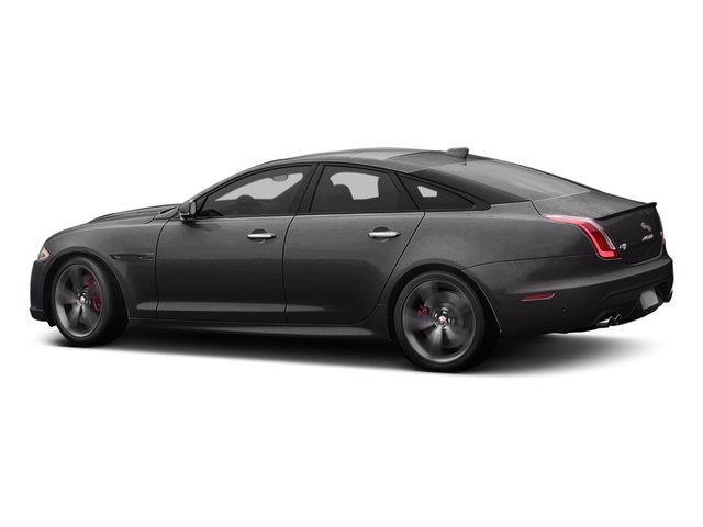 Ultimate Black Metallic 2016 Jaguar XJ Pictures XJ Sedan 4D XJR V8 Supercharged photos side view