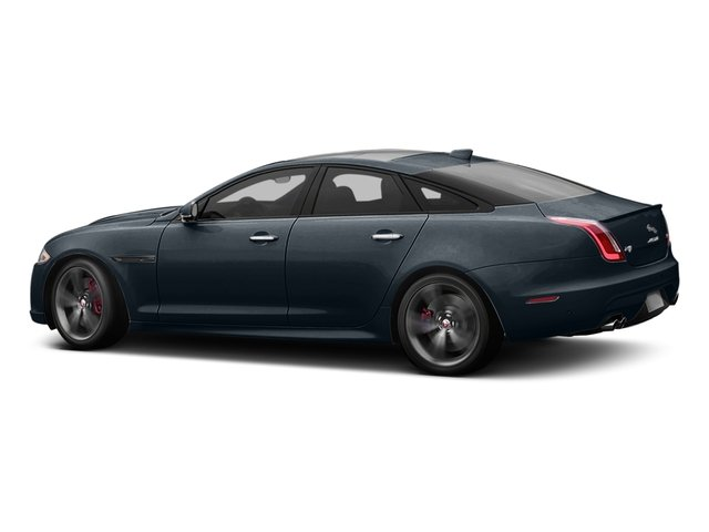 Dark Sapphire Metallic 2016 Jaguar XJ Pictures XJ Sedan 4D XJR V8 Supercharged photos side view