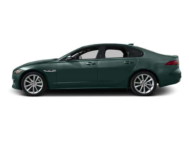 British Racing Green Metallic 2016 Jaguar XF Pictures XF Sedan 4D 35t R-Sport V6 Supercharged photos side view