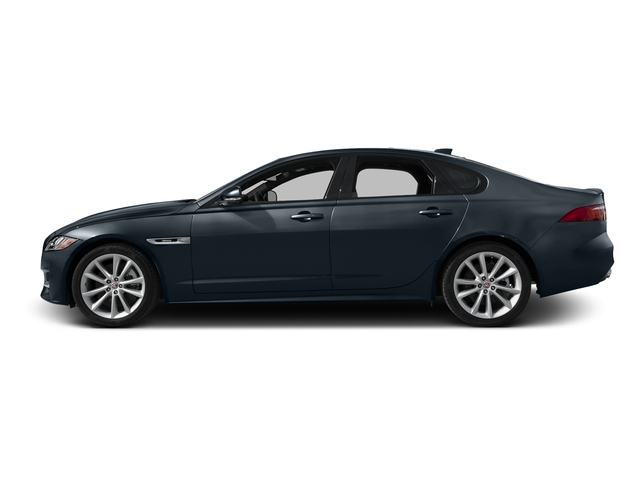 Dark Sapphire Metallic 2016 Jaguar XF Pictures XF Sedan 4D 35t R-Sport V6 Supercharged photos side view