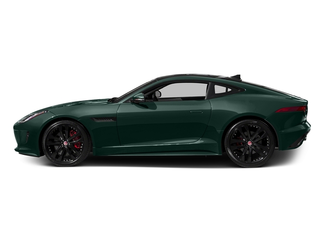 British Racing Green Metallic 2016 Jaguar F-TYPE Pictures F-TYPE Coupe 2D S AWD V6 photos side view