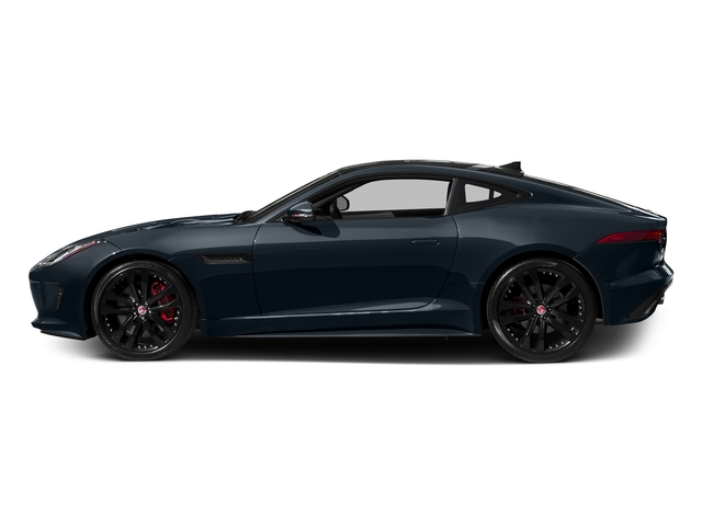 Dark Sapphire Metallic 2016 Jaguar F-TYPE Pictures F-TYPE Coupe 2D S AWD V6 photos side view