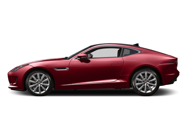 Italian Racing Red Metallic 2016 Jaguar F-TYPE Pictures F-TYPE Coupe 2D V6 photos side view