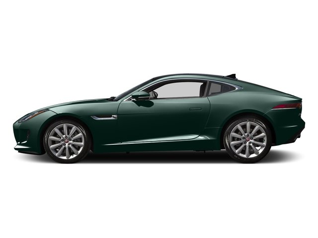 British Racing Green Metallic 2016 Jaguar F-TYPE Pictures F-TYPE Coupe 2D V6 photos side view