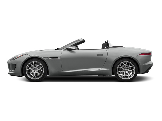 Rhodium Silver Metallic 2016 Jaguar F-TYPE Pictures F-TYPE Convertible 2D V6 photos side view