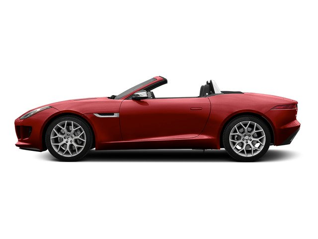 Italian Racing Red Metallic 2016 Jaguar F-TYPE Pictures F-TYPE Convertible 2D V6 photos side view