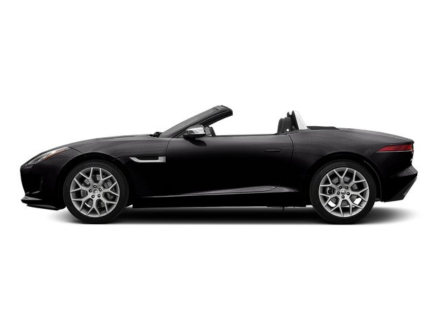 Ultimate Black Metallic 2016 Jaguar F-TYPE Pictures F-TYPE Convertible 2D V6 photos side view