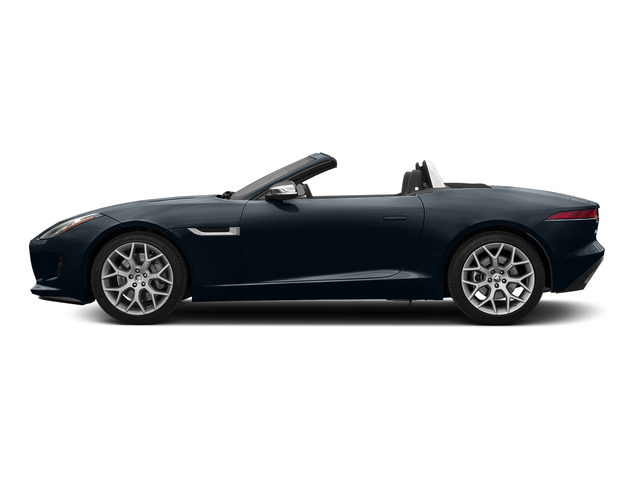 Dark Sapphire Metallic 2016 Jaguar F-TYPE Pictures F-TYPE Convertible 2D V6 photos side view