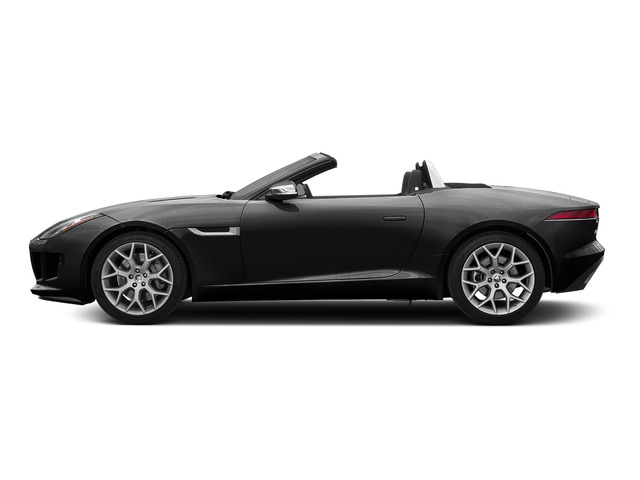Ebony Black 2016 Jaguar F-TYPE Pictures F-TYPE Convertible 2D V6 photos side view