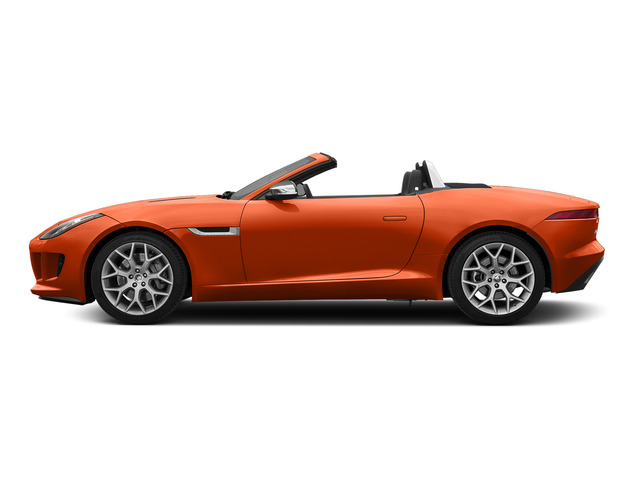 Firesand Metallic 2016 Jaguar F-TYPE Pictures F-TYPE Convertible 2D V6 photos side view