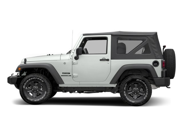 Bright White Clearcoat 2016 Jeep Wrangler Pictures Wrangler Utility 2D Sport 4WD V6 photos side view