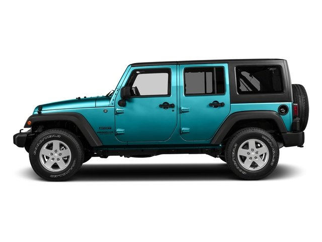 Hydro Blue Pearlcoat 2016 Jeep Wrangler Unlimited Pictures Wrangler Unlimited Utility 4D Unlimited Sport 4WD V6 photos side view