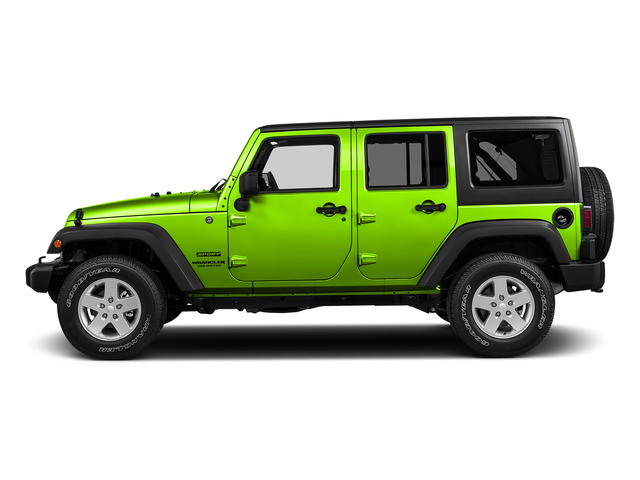 Hypergreen Clearcoat 2016 Jeep Wrangler Unlimited Pictures Wrangler Unlimited Utility 4D Unlimited Sport 4WD V6 photos side view