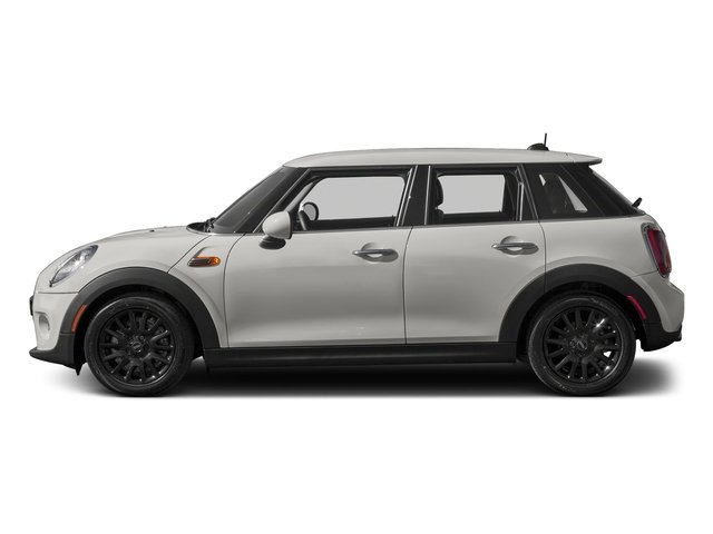 White Silver Metallic 2016 MINI Cooper Hardtop 4 Door Pictures Cooper Hardtop 4 Door Wagon 4D I3 Turbo photos side view