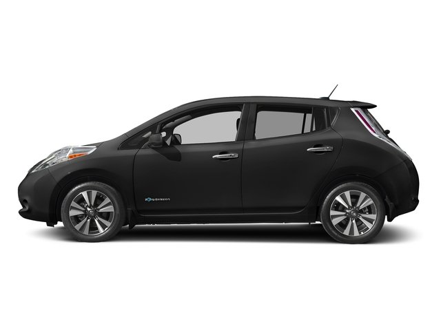 Super Black 2016 Nissan LEAF Pictures LEAF Hatchback 5D SV Electric photos side view