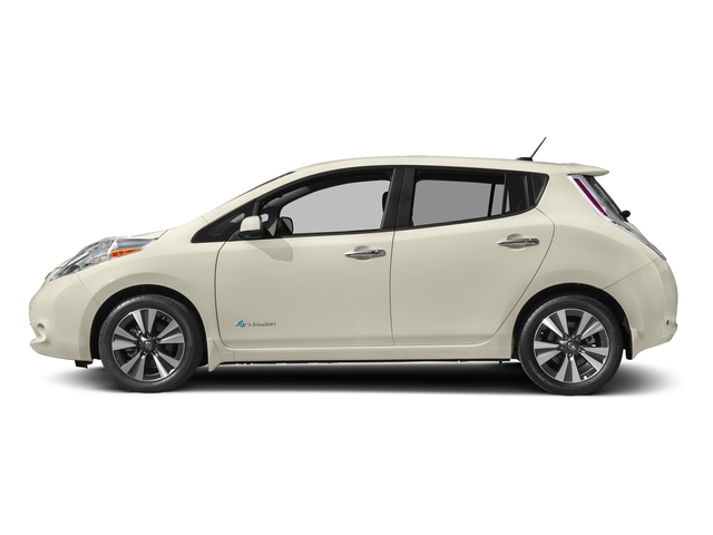 Pearl White 2016 Nissan LEAF Pictures LEAF Hatchback 5D SV Electric photos side view