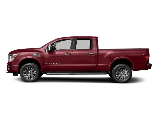 Cayenne Red 2016 Nissan Titan XD Pictures Titan XD Crew Cab Platinum Reserve 4WD V8 photos side view
