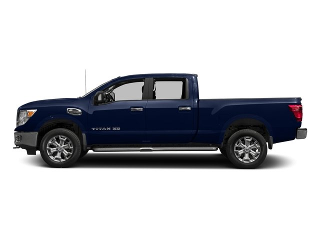 Deep Blue Pearl 2016 Nissan Titan XD Pictures Titan XD Crew Cab SV 2WD V8 photos side view