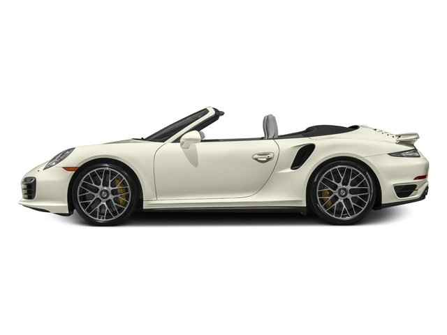 Carrera White Metallic 2016 Porsche 911 Pictures 911 Cabriolet 2D AWD H6 Turbo photos side view