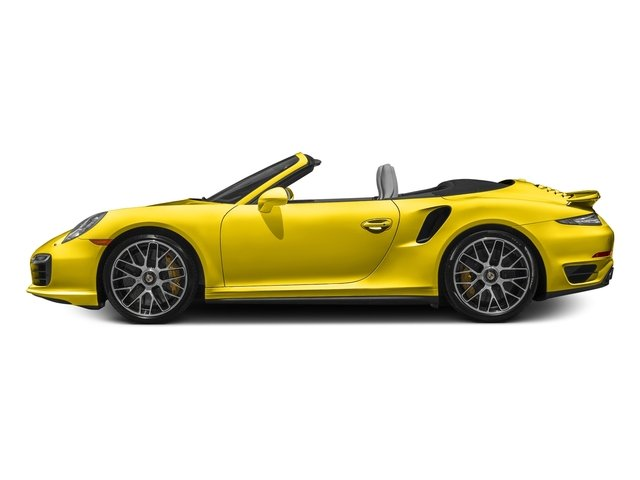 Racing Yellow 2016 Porsche 911 Pictures 911 Cabriolet 2D S AWD H6 Turbo photos side view