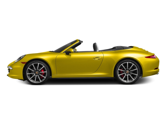 Racing Yellow 2016 Porsche 911 Pictures 911 Cabriolet 2D 4S AWD H6 photos side view