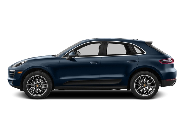 Dark Blue Metallic 2016 Porsche Macan Pictures Macan Utility 4D AWD V6 Turbo photos side view