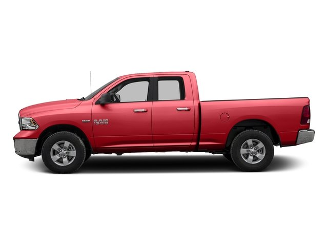 Bright Red 2016 Ram Truck 1500 Pictures 1500 Quad Cab SLT 4WD photos side view
