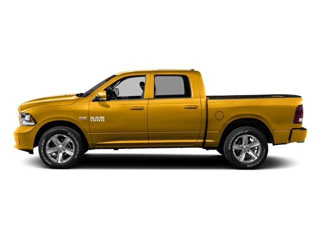 Construction Yellow 2016 Ram Truck 1500 Pictures 1500 Crew Cab Outdoorsman 4WD photos side view
