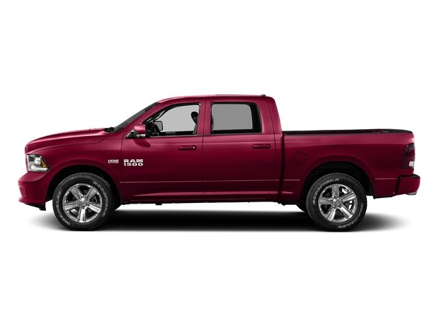 Delmonico Red Pearlcoat 2016 Ram Truck 1500 Pictures 1500 Crew Cab Sport 2WD photos side view