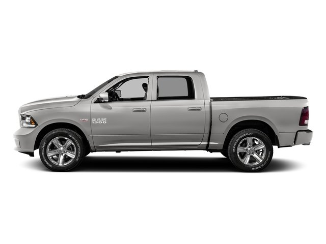 Bright Silver Metallic Clearcoat 2016 Ram Truck 1500 Pictures 1500 Crew Cab Sport 2WD photos side view