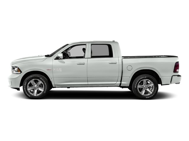 Bright White Clearcoat 2016 Ram Truck 1500 Pictures 1500 Crew Cab Outdoorsman 4WD photos side view
